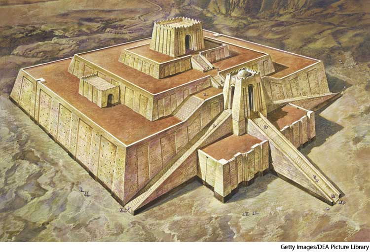 American Heritage Dictionary Entry Ziggurat